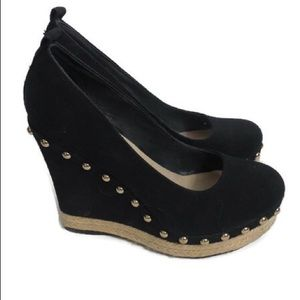 Aldo Ladies Platform Shoes w/gold Rivet Detail